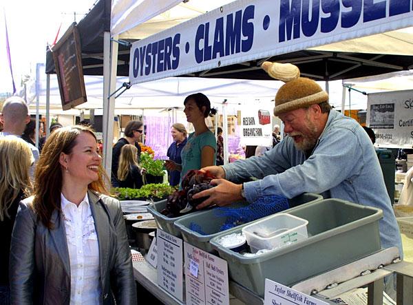 Oyster Bill at the Ballard Sunday Market