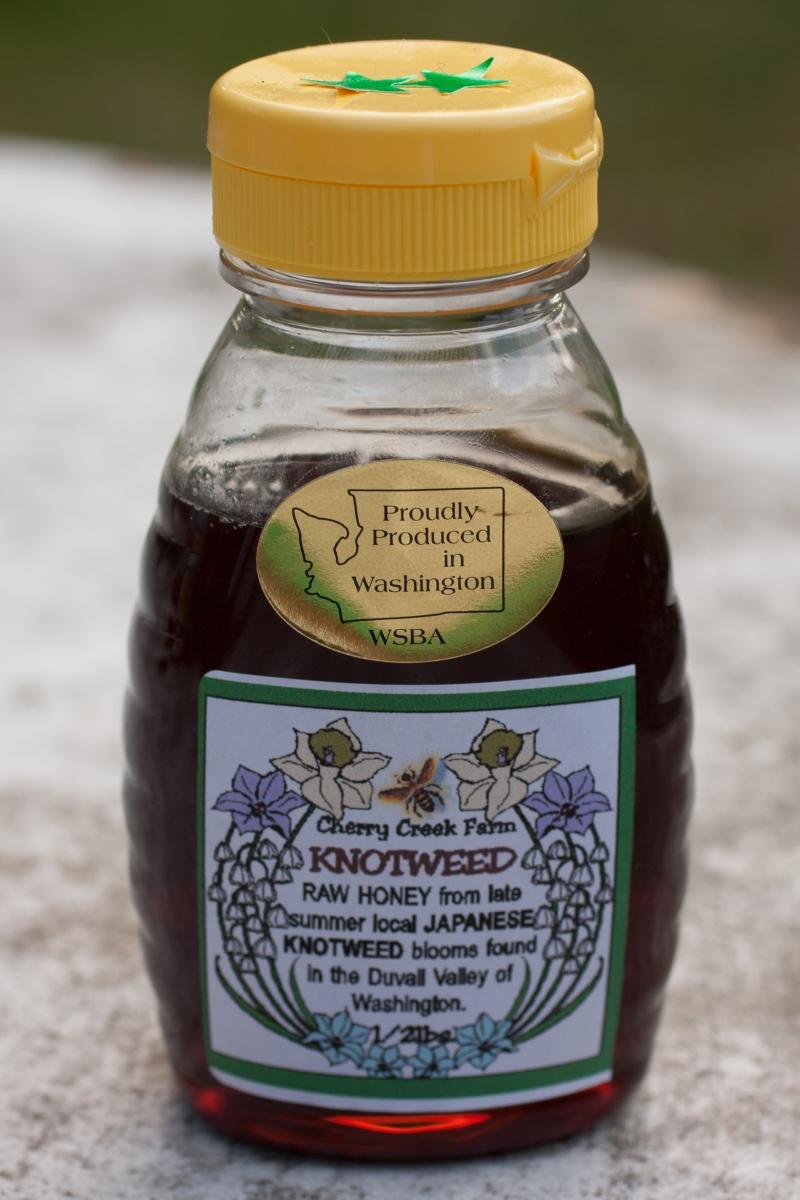 "Knotweed (Duvall, WA): grass, bittersweet, deep, heavy sweetness, ""almost like it has rum in it,"" medium texture, ""tiny bit bitter,""""tingles throat"""