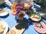 In addition to all those honeys, we also had tasty food from our members and friends. Kristan really took it to the next level with a beautiful tablescape! (Also, we were very fortunate to have excellent neighbors for our picnic: the Seattle Ukulele Players Association. Vine from picnicker Lucia here: https://vine.co/v/MVEYaQv36vm)