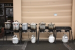 The pressure canner set-up
